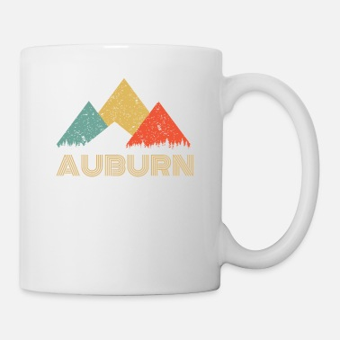 Forest Retro City of Auburn Mountain Shirt - Coffee/Tea Mug