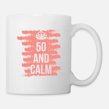 50th Birthday 50th Birthday 50 Years Gift Funny Saying Queen - Coffee/Tea Mug