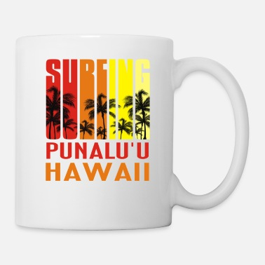Hawaii Surfing Punalu u Hawaii TShirt Retro Surfer Tee - Coffee/Tea Mug