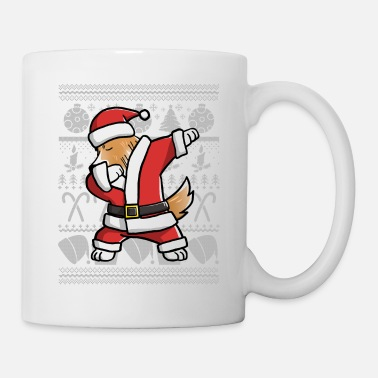 Sheltie Shetland Sheepdog Dabbing Ugly Christmas - Coffee/Tea Mug