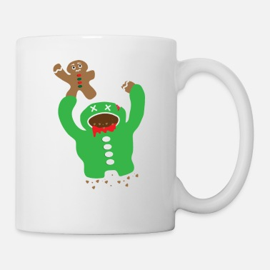 Fall Zombie Eating A Gingerbread Man Christmas Fun Gift - Coffee/Tea Mug