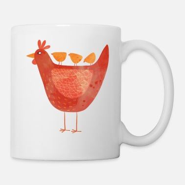 Hen Hen and Chicks - Mug
