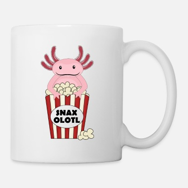 Aquarium Popcorn Axolotl Salamander - Coffee/Tea Mug