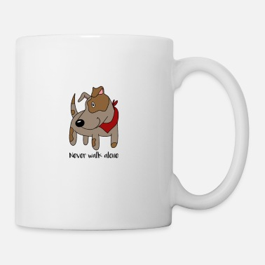 Puppy Never Walk Alone Dog Dog-Walking Doggy Puppy Pup - Coffee/Tea Mug