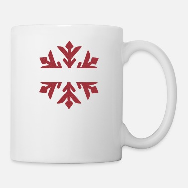 Hockey Latvia Flag Winter Snowflake Design - Coffee/Tea Mug