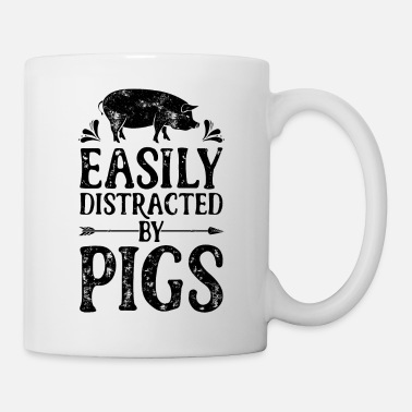 Farmer Easily Distracted By Pigs T Shirt Funny Pig - Coffee/Tea Mug