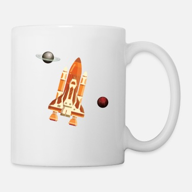 Mars Space Universe Spaceship Planet - Coffee/Tea Mug
