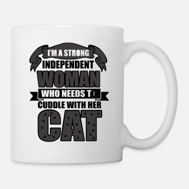 Cuddle Woman And Cat - Coffee/Tea Mug