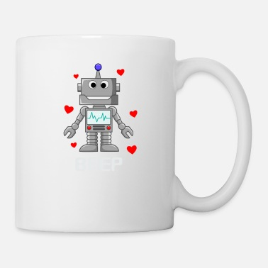 Pun Beep My Valentine Cute Robot - Coffee/Tea Mug