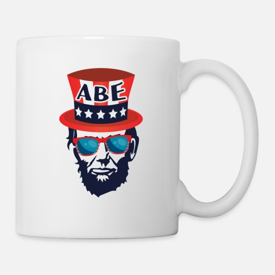 01e2c18d476 Patriot Mugs & Drinkware - Funny President Patriotic 4th of July  Independence - Mug white