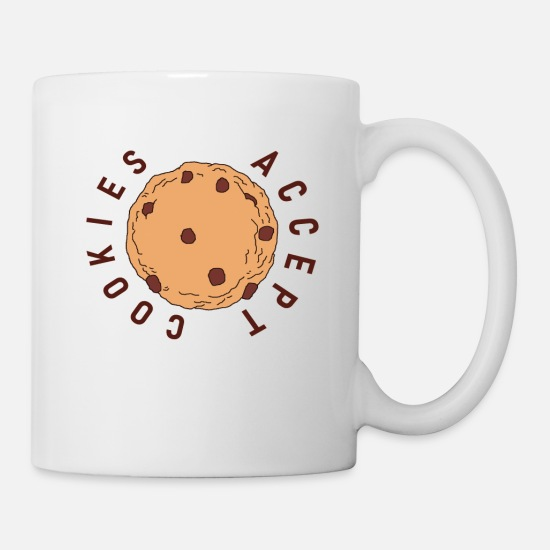 Computer Mugs & Drinkware - Accept Cookies Cookie - Mug white