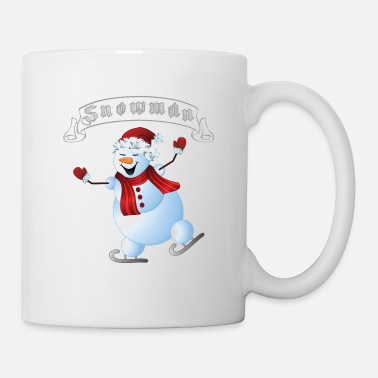 Blizzard Ice skating snowman - Mug