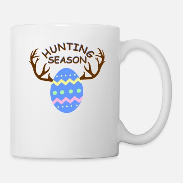 Toddler Hunting Season Funny Easter Eggs with Antlers - Mug