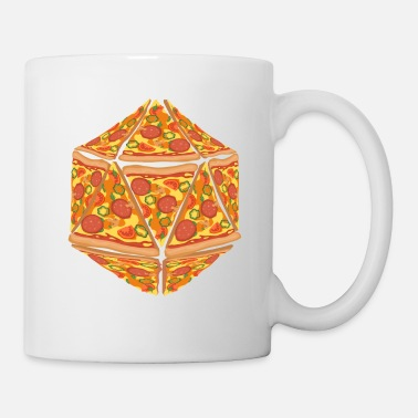 Dice Pizza Dice Dungeon RPG tabletop gamer gift - Mug
