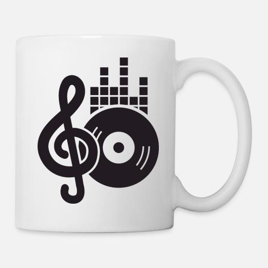 Porcelain Clef Handle Shape Black Free Cup Coffee Tea Bottle Music Mug Gift