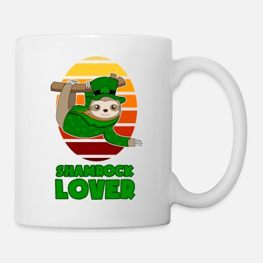 Colleague St Patricks Day Shamrock Lover Sloth gift - Mug