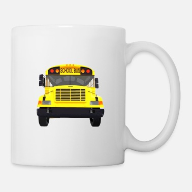 Drive Go By Car i drive a school bus and car studen drive car bus - Mug