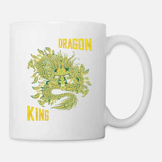 Folklore Mugs & Drinkware - Dragon King - Mug white