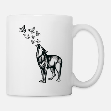 Climate Change Wolf and butterflies - Mug