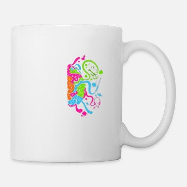 Colorful Brain Science and Art - Mug