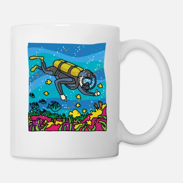 Deep Sea Diver DIVER WITH CORALS - Mug