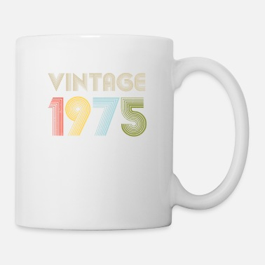 December 45 th Birthday Vintage Shirt Born In 1975 Gift Tee - Mug