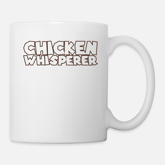 Kindergarten Mugs & Drinkware - Fast Food: Chicken Whisperer delicious yummy Food - Mug white