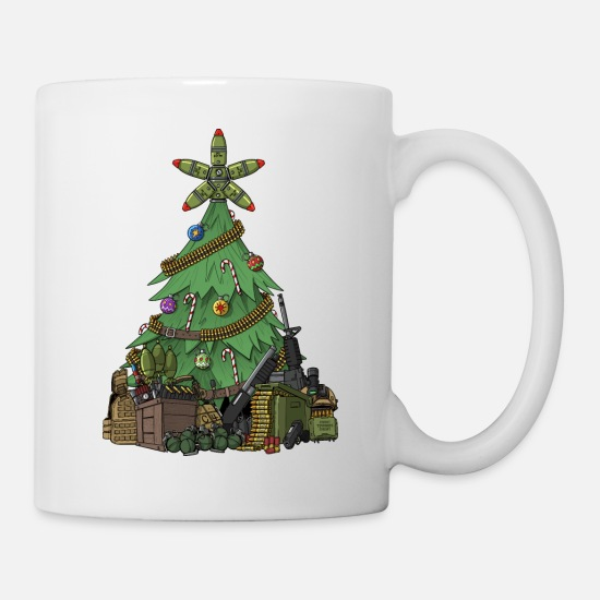 Soldier Mugs & Drinkware - Christmas Tree For Military - Mug white