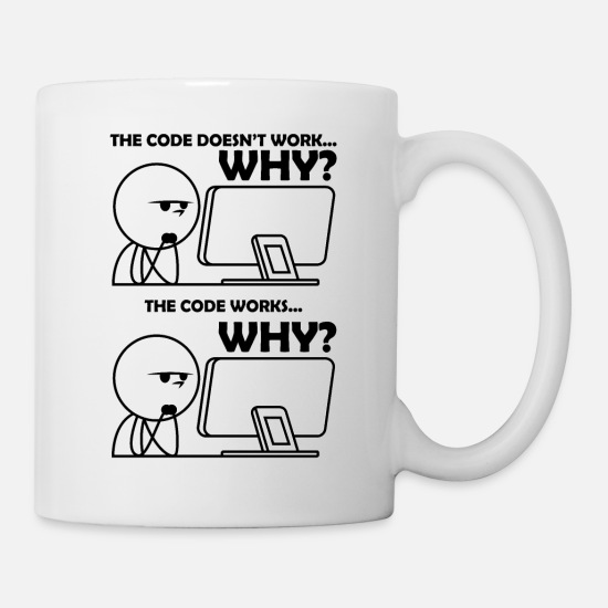 Architecture Mugs & Drinkware - Programming Code Funny - Mug white