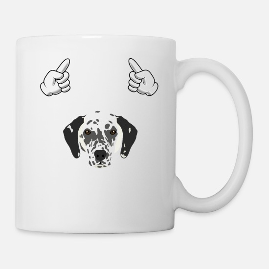 Sayings Mugs & Drinkware - Dalmatian Who Goes With The Dog Animal Dog Breeds - Mug white