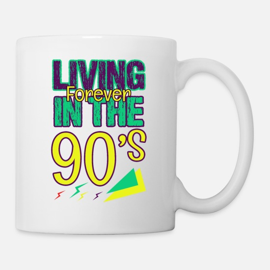 Love Mugs & Drinkware - 1990 90er Party Cool 90s Jahre Geschenk Retro Cool - Mug white