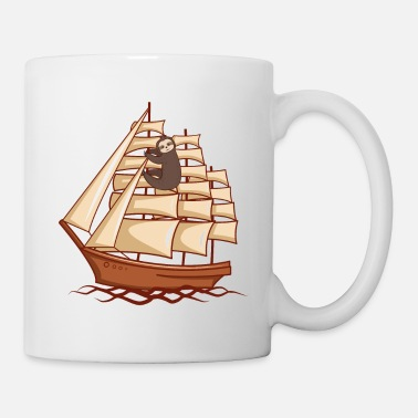 Mothers Funny Sloth with Sailing Ship Sailer Gift - Mug