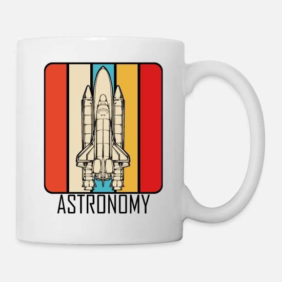 Galaxy Mugs & Drinkware - Retro Style Vintage Space Shuttle Astronomy Gift - Mug white