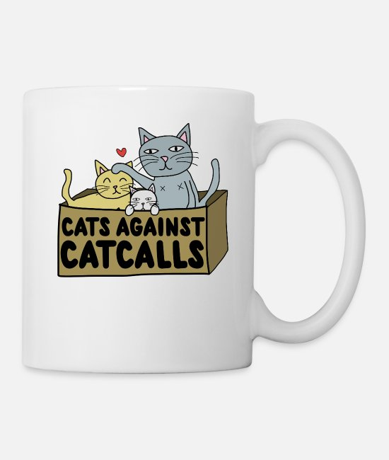 Cats Mugs & Cups - Cats against catcalls - Mug white