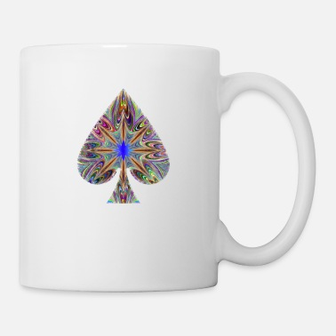Ecstasy Drugs, LSD, Pick Ace Poker card in psychedelic - Mug