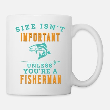 I Love Fishing Fishing rod important fisherman size gift funny - Mug