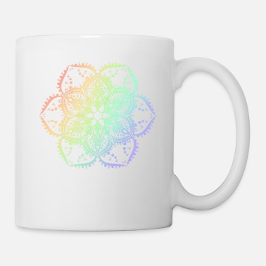 Nirvana White Lotus Flower Mandala Yoga Hippie Tattoo - Mug