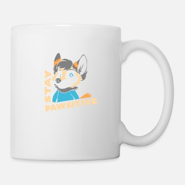 Foxes Stay Pawsitive Furry Fandom Fursuiter Gift - Mug