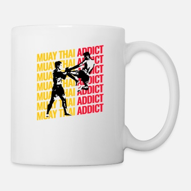 Fight Addiction Muay Thai Addict Kickboxing Gym MMA Training Gift - Mug