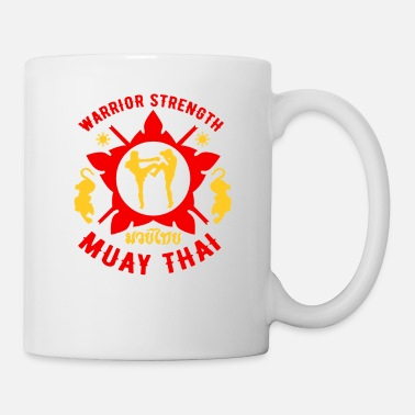 8 Tigar Muay Thai MMA Retro Warrior MMA Training - Mug