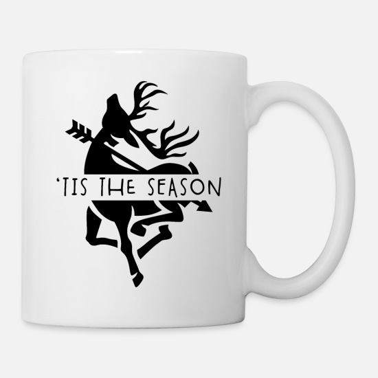 Hunting Mugs & Drinkware - Bow Hunting Gear Vintage Tis The Season Deer - Mug white