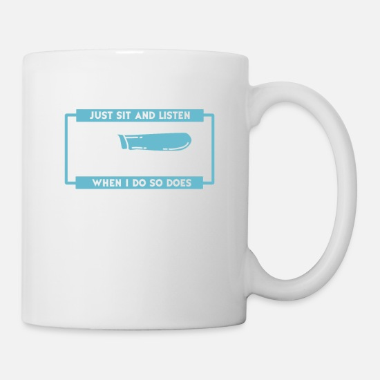Street Racing Mugs & Drinkware - I Don't Always Just Sit And Listen To My Exhaust - Mug white
