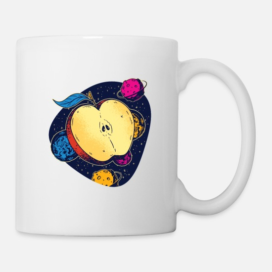 Ecofriendly Mugs & Drinkware - Colorful space apple galactic fruits of health - Mug white