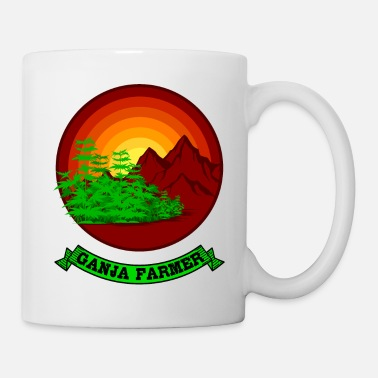 Ragga GANJA FARMER RETRO Marijuana Gifts For Stoner 420 - Mug