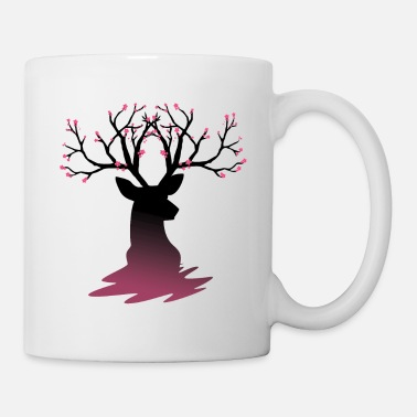 Bloom Deer With Cherry Blossoms - Mug