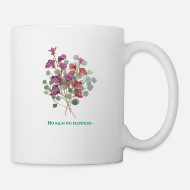 Rain art life rain flowers motivation woman gift idea - Mug