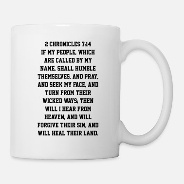 God 2 Chronicles 7:14 Father Heal Our Land Bible Verse - Mug