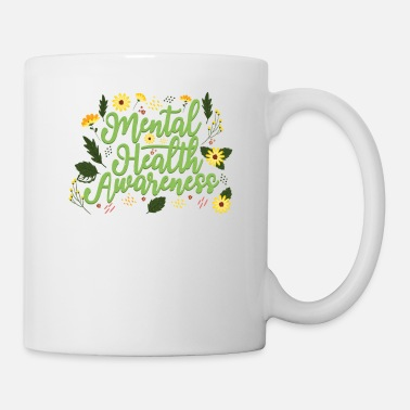 Be Kind Mental Health Awareness Month Retro Positive Quote - Mug