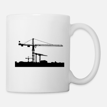 Shade Construction site crane motif black - Coffee/Tea Mug
