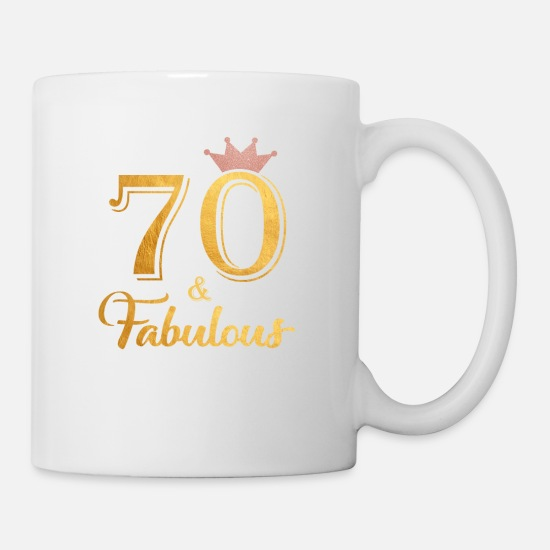 70 Fabulous Queen Shirt 70th Birthday Gifts Mug